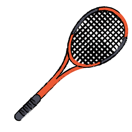 tennis racket sport icon vector illustration eps 10 Illustration