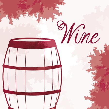 wine barrel wooden vintage image vector illustration eps 10