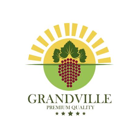 illustrazione vettoriale di vino di alta qualità di grandville illustrazione eps 10