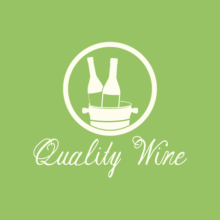 quality wine alcohol beverage image vector illustration eps 10 Illustration