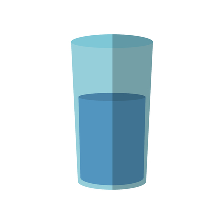 translucent: Water glass icon over white background. vector illustration