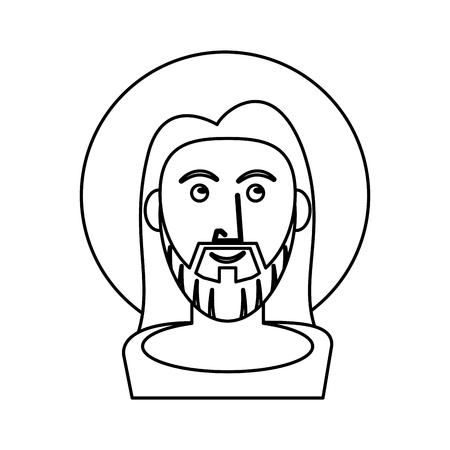 jesus christ catholic symbol outline vector illustration Illustration