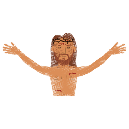drawing jesus christ resurrection design vector illustration Illustration