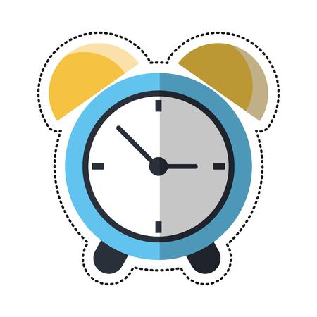cartoon clock time alarm hour vector illustration