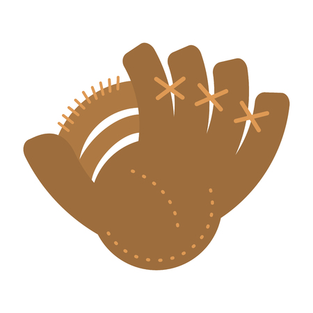 baseball glove sport icon vector illustration