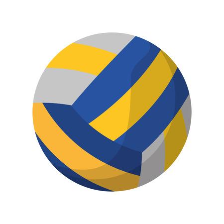 volleyball ball sport icon vector illustration Illustration