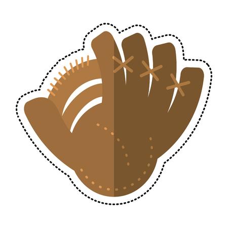 cartoon baseball glove sport icon vector illustration