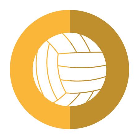 volleyball ball sport shadow vector illustration