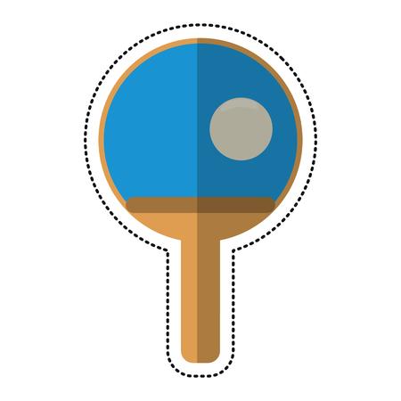 cartoon ping pong paddle ball vector illustration eps 10