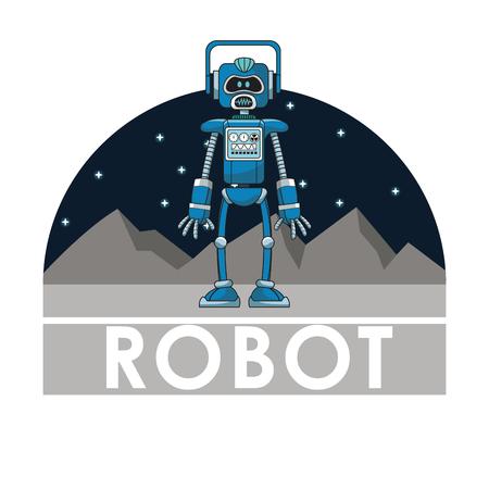 robot technology automated intelligence futuristic vector illustration
