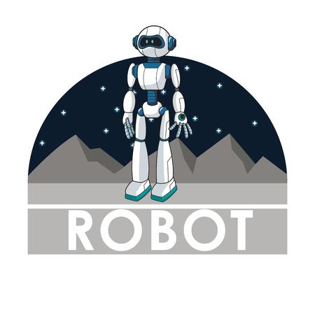 automated: robot technology automated intelligence futuristic vector illustration