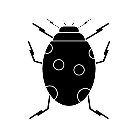ladybug insect nature icon pictogram vector illustration eps 10