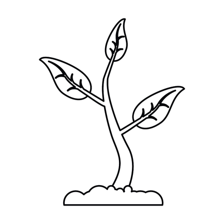 sprout growing plant eco thin line vector illustration eps 10 Illustration