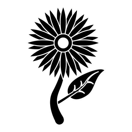 Flore de tournesol laisse icône pictogramme vector illustration eps 10