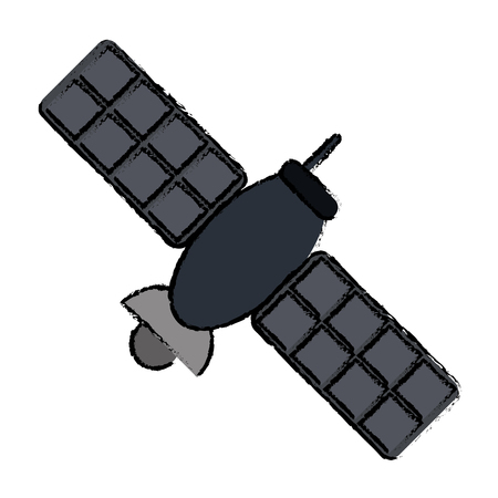 drawing satellite telecommunication transmitter signal world vector illustration eps 10 Illustration