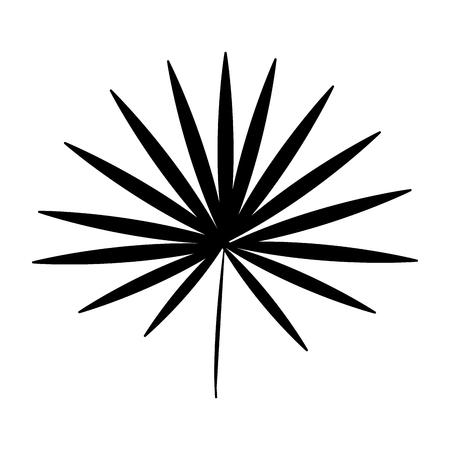 vegetate: single leaf icon image vector illustration design  black silhouette