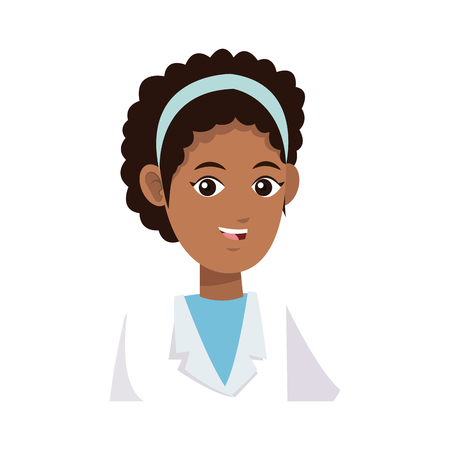 medical doctor woman icon over white background. colorful design. vector illustration Illustration