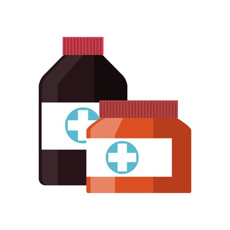 firstaid: medicine bottle icon over white background. colorful design. vector illustration
