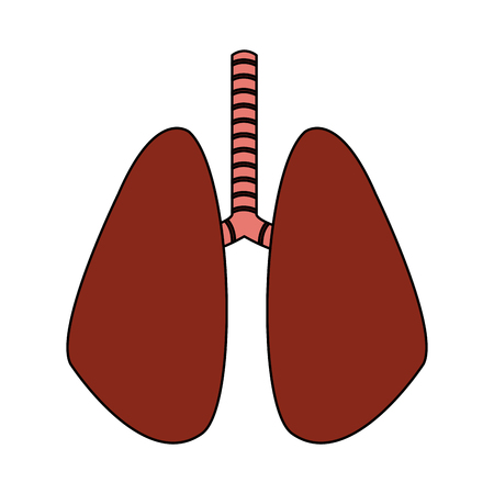 set of human lungs icon image vector illustration design Illustration