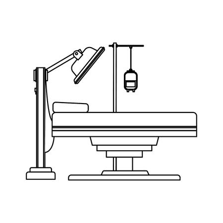 gurney or hospital bed icon image vector illustration design