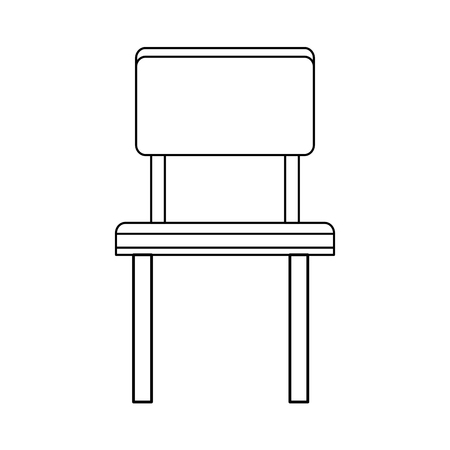 luxury living room: simple chair icon image vector illustration design