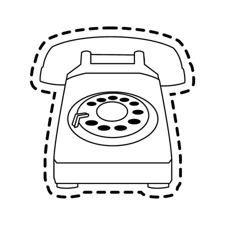vintage telephone: landline telephone icon image vector illustration design