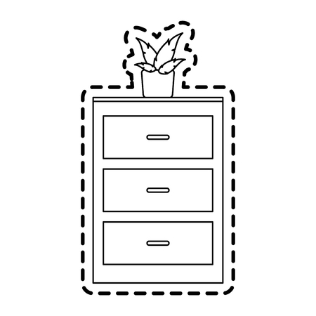 office furniture: archive furniture icon image vector illustration design