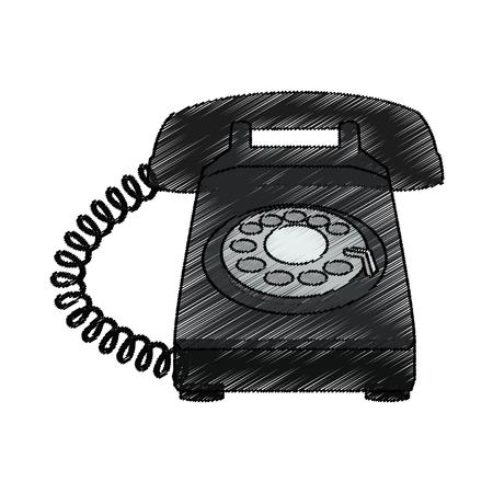 telephone icon over white background. vector illustration Illustration