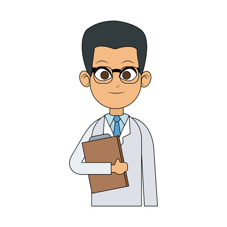 young male doctor icon image vector illustration design Illustration