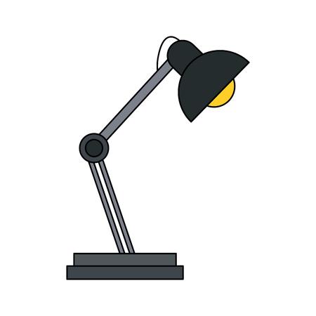 office furniture: desk lamp icon image vector illustration design Illustration