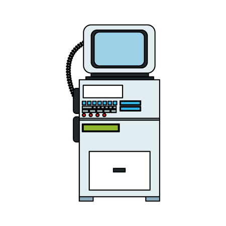 lcd: patient monitor icon image vector illustration design