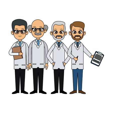 group of male doctors icon image vector illustration design Illustration