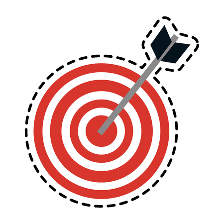 bullseye or target icon image vector illustration design