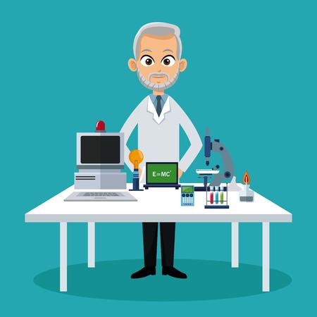 general practitioner: doctor medical workspace vector illustration