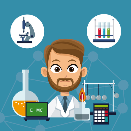 doctor medical equipment laboratory vector illustration