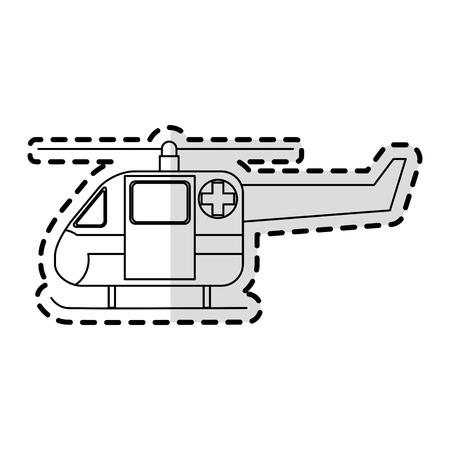 reanimation: helicopter ambulance icon image vector illustration design