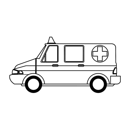 auto service: ambulance sideview icon image vector illustration design