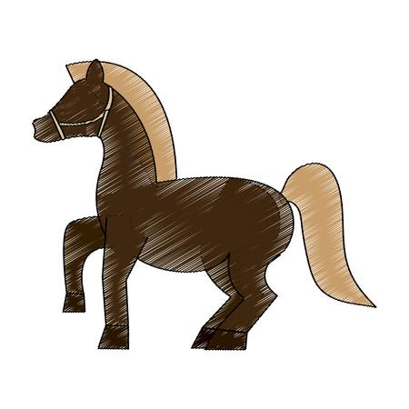 simple life: horse animal icon image vector illustration design