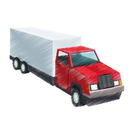 big cargo truck icon image vector illustration design