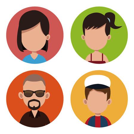 People community casual together vector illustration eps 10 Illustration