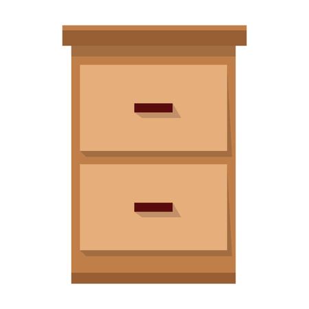 office furniture: File cabinet document image vector illustration Illustration