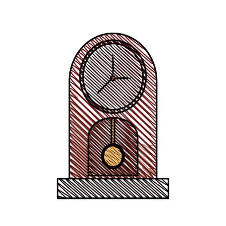 clock pendulum time classic vector illustration