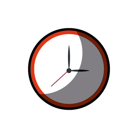 Clock watch time element shadow vector illustration