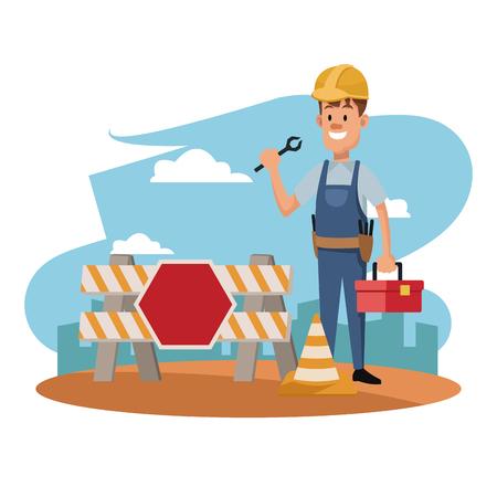 labor day construction man employee celebration international vector illustration
