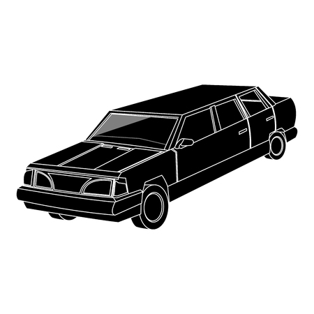 inverted: Vintage 90s style car icon image vector illustration design  inverted black and white Illustration
