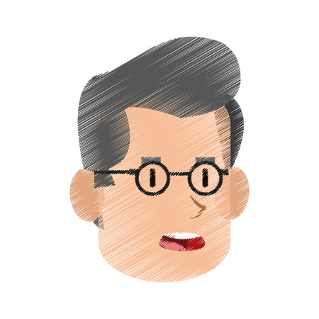 Worried middle age man icon image vector illustration design.