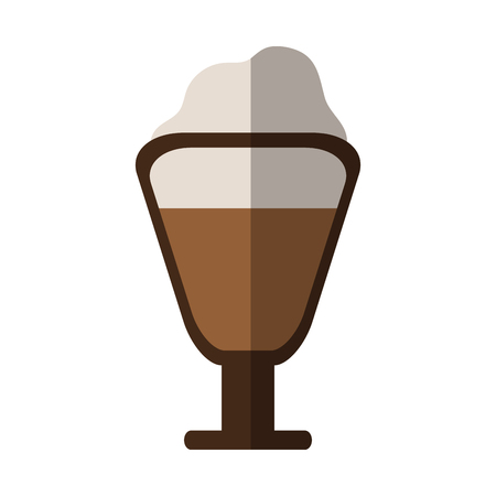 beverage with foam coffee related icon image vector illustration design Illustration