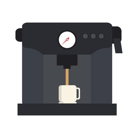 Machine serveren koffie gerelateerde pictogram afbeelding vector illustratie ontwerp