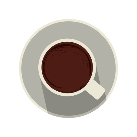 multiple: mug topview coffee related icon image vector illustration design