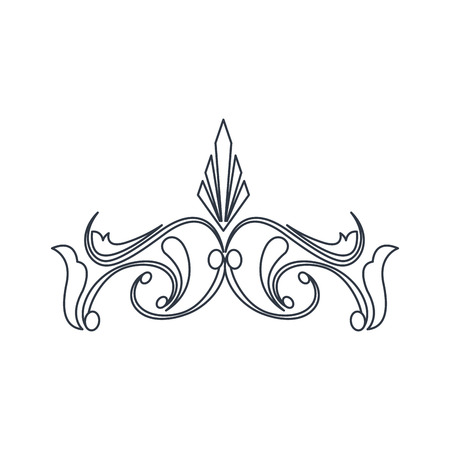 swirl vintage baroque ornament style line vector illustration Illustration